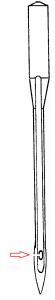 Aiguille facile à enfiler pour sa machine à coudre pour www.coudreetbroder.com