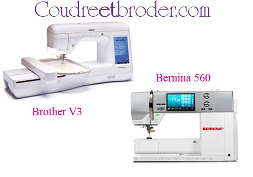 Brother V3 et Bernina 560