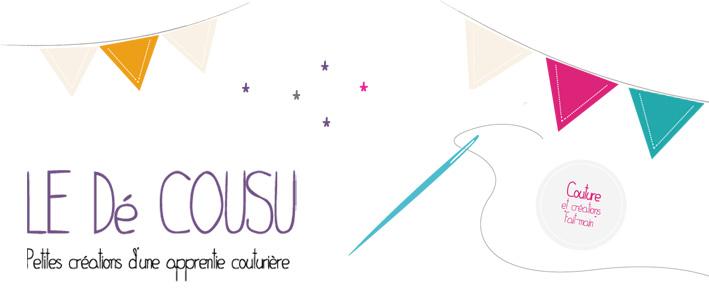 Le Dé Cousu, le blog couture d'une apprentie couturière
