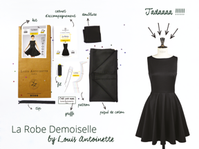 kit robe Demoiselle Louis Antoinette